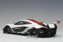 McLaren P1 GTR Gloss White Red Stripes 1/18 AUTOart 81541 Brand New