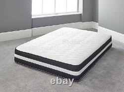 Memory Foam Matress New Quilted Sprung Mattress 3ft Single 4ft6 Double 5ft King