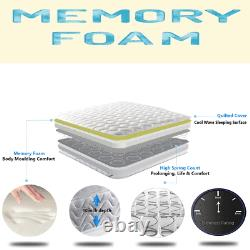 Memory Foam Spring Mattress Single, Small, Double, King Size, Super King