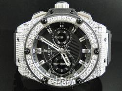 Mens Brand New Hublot Big Bang King Power Reserve Diamond Watch 13 Ct