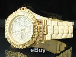 Mens Brand New IceTime Bling 1 Row Diamond Watch Joe Rodeo JoJo Illusion Band