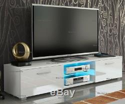 Modern 160cm TV Unit Cabinet TV Stand Matt Body & High Gloss Doors LED