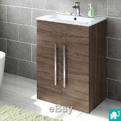 Modern Combined Vanity Storage Unit with Toilet & Sink 1060mm Matte White Bathr