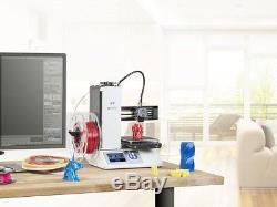 Monoprice Select Mini 3D Printer V2 White with Sample PLA Filament and MicroSD