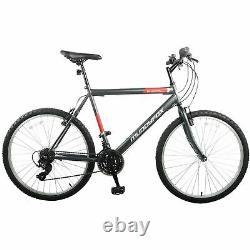 Muddyfox Mens Energy26 Mountain Bike 26 Wheels 18 Speed MTB Saddle with Bumpers