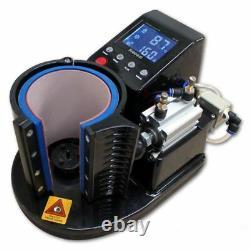 Mug Heat Press PNEUMATIC AUTO ST-110 Sublimation Mug Print Transfer Black White