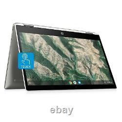 NEW HP 14 TOUCHSCREEN HD 2-in-1 Intel Quad 2.7GHz 128GB SSD 4GB RAM Chromebook