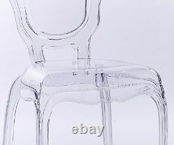 NICHES Ghost French Style V2 Dressing Dining Room Chair Transparent Louis Chair