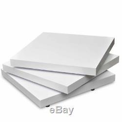 New Coffee Table 3 Layers High Gloss Contemporary Furniture Square White/Black