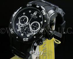 New Invicta Men Scuba Pro Diver Combat Chrono Gunmetal Black Dial S. S Poly Watch