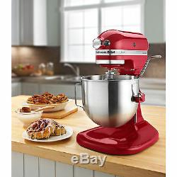 New KitchenAid Heavt Duty pro 500 Stand Mixer Lift ksm500psqer AllMetal 5-qt Red