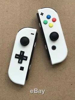 Nintendo Switch Custom Joy Con Controller Joy-Cons White D-PAD + BACKPLATE