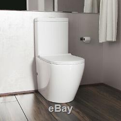 Nox Bathroom White Close Coupled WC Toilet Pan Soft Close Seat & Dual Flush