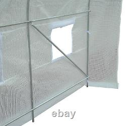 Outsunny 3.5x2x2m Walk-in Greenhouse Polytunnel Galvanized Plants Grow Tent