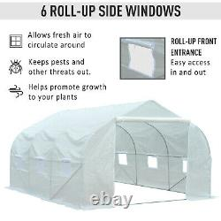 Outsunny 4.5x3x2m Walk-In Greenhouse Warm House Garden Tunnel Shelter Plant Shed