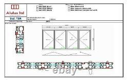 Quality Aluminium Bi fold Patio Doors inc Glass 4 panels