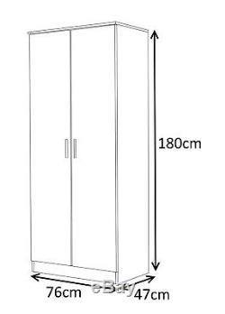 REFLECT Plain 4 Door Corner Wardrobe Gloss White / White Bedroom Furniture Set
