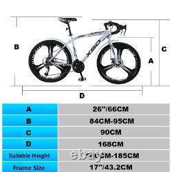 Road Mountain Bike/Bicycle NEW SPEED Men/Women 24Speed 26 Wheel Carbon Frame