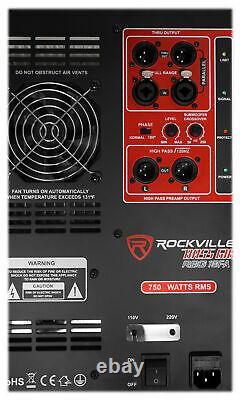 Rockville RBG18FA 18 3000w Active Powered Pro Subwoofer Folded Horn PA/DJ Sub