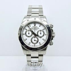 Rolex Daytona 116520 Box and Papers Brand New Unworn Fully Stickered White Dial