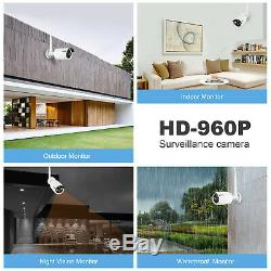 SANNCE 8CH Wireless 1080P HDMI NVR CCTV Wifi IP Camera Outdoor Security System