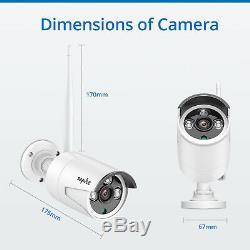 SANNCE 8CH Wireless CCTV 1080P NVR 2MP IP Camera Home Security System IR Cut 1TB