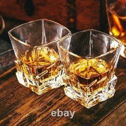 Set of 2 Rocking Whiskey Glasses Swirling Whisky Tumblers Bar Gift Xmas Scotch