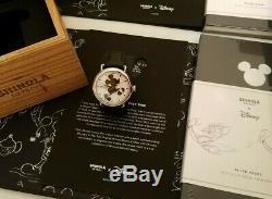 Shinola DISNEY Mickey Runwell 41mm Watch, BLACK COLOR, Silhouette- Brand New