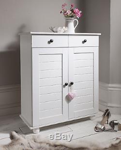 Shoe Storage Cabinet Cupboard with 2 Storage Drawers Heathfield