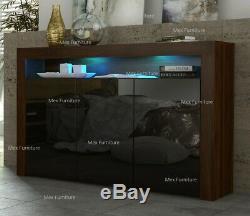 Sideboard tv unit cabinet Cupboard Matt Body and High Gloss Doors+ LED Light