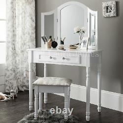 Sienna Dressing Table, Stool & Mirror Set