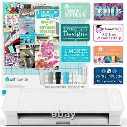 Silhouette White Cameo 4 with 26 Oracal Glossy Sheets, Guides, 24 Sketch Pens
