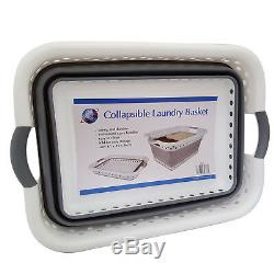 Space Saving Collapsible Laundry Large Folding Basket Cloth Washing Pop Up Bin