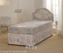 Superb Value 3ft Single Albi Divan Bed with Mattress