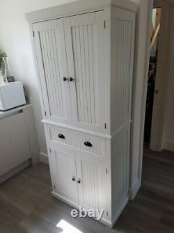 Tall Kitchen Storage Cupboard Cabinet Pantry White Freestanding Unit Furniture