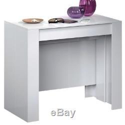 Tavolo consolle allungabile 10 posti multi posizione bianco casa cucina 004580bo