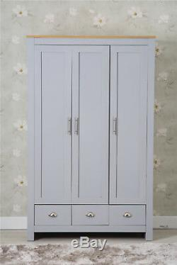 Three Or Four Piece Furniture Set 2/3Door Wardrobe Beside Table Drawer Chest set