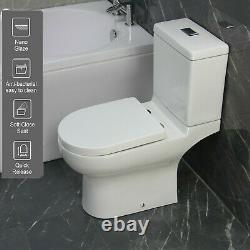 Toilet WC Close Coupled Bathroom Cloakroom Round Soft Close Seat pan T20 23/9/20