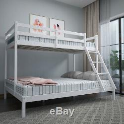 Triple Sleeper Bed Bunk Bed Pine Solid Wood Double & Single for Children Adults