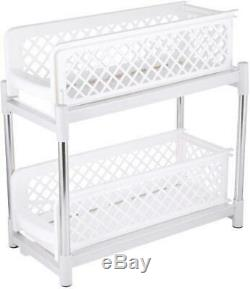Under Shelf Kitchen Cabinet Storage Basket Slide Out Cupboard Drawer Unit