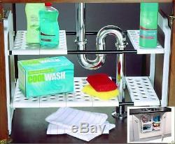 Under Sink Storage Shelf Shelves Organizer Space Saving Tidy Rack Cupboard Addis
