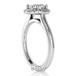 Valentines Day 3/4 Carat Diamond Engagement Ring Round Cut 14k White Gold VS2/D