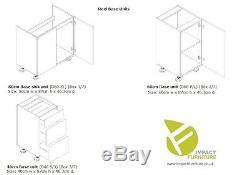 WHITE HIGH GLOSS Kitchen 7 Units Cabinets Set Black Accent Soft Close Legs 240cm