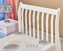 WestWood 3ft Single Wooden Sleigh Bed Frame Pine Bedroom Furniture White WSB01