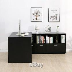 WestWood PC Computer Desk Corner Wooden Desktop Table Cabinet Home Workstation
