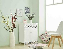 WestWood Storage Sideboard Cupboard Cabinet 2 Door Home Unit White MDF MSC01
