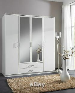 White German Made Wardrobe in 2 3 and 4 Doors with Mirrors and Drawers Bedroom