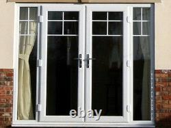 White uPVC FRENCH DOORS MADE TO MEASURE / BRAND NEW FREE DELIVERY