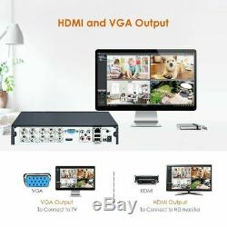 ZOSI CCTV System 8CH 1080N DVR Recorder Home Outdoor Security Camera System Kit